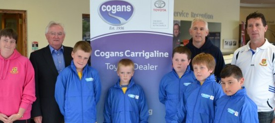 Cogans support the local 'Football For All' soccer team