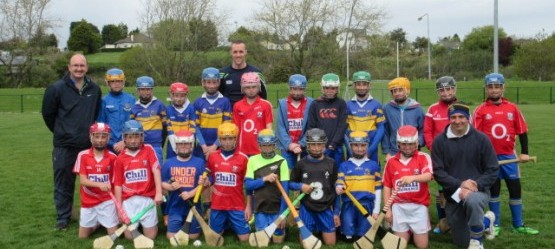 Our Brand Ambassador Stephen McDonnell trains with local Carriaglne Hurling Team