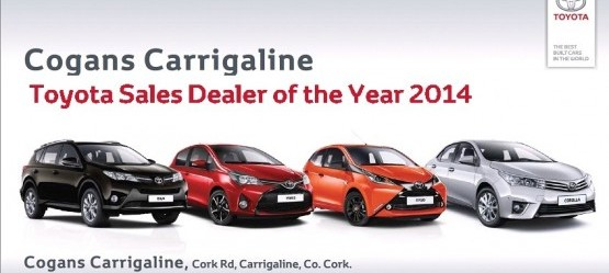 Cogans Carrigaline awarded Toyota Sales Dealer of the Year 2014