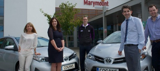 Cogans Carrigaline present Marymount Hospice with two new Auris models