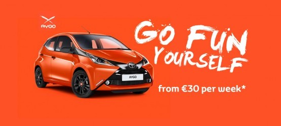 Drive the new Toyota AYGO for €30 per week*